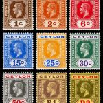 Old Sri Lankan Stamps Collection
